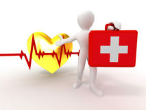 case hjärtslagläkarundersökningmän Arkivfoton