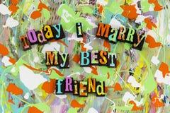 Case hoy mi boda del mejor amigo Imagenes de archivo