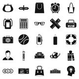 Case icons set, simple style Royalty Free Stock Photography