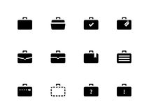 Case icons. Traveling bags and luggage. Vector illustration Stock Photography