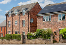 Case inglesi Architettura inglese tipica Casa del mattone Immagine Stock