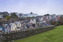 Case irlandesi in Cobh, sughero della contea, Irlanda. Fotografia Stock Libera da Diritti