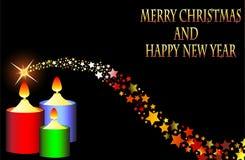 Case la estrella fugaz 2015 de la Feliz Año Nuevo de la Navidad Fotografía de archivo