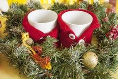 Case la Navidad Año Nuevo 2018 Fotos de archivo libres de regalías