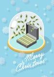 Case la Navidad abundancia stock de ilustración