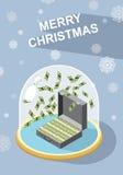 Case la Navidad abundancia ilustración del vector