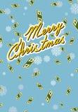 Case la Navidad abundancia Dinero que cae ilustración del vector