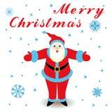 Case la Navidad con Santa Claus libre illustration