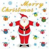 Case la Navidad con Santa Claus y los regalos libre illustration
