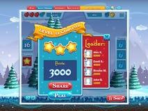 Case la Navidad - ejemplo que termina el juego de ordenador llano stock de ilustración
