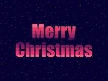 Case la Navidad en estilo retro de 80 ` s Texto en el estilo futurista, neón Vector stock de ilustración