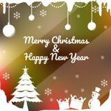 Case la Navidad y la Feliz Año Nuevo stock de ilustración