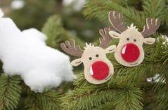 Case la Navidad y la Feliz Año Nuevo Fotografía de archivo