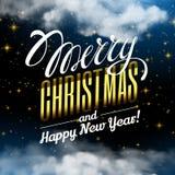Case la Navidad y la Feliz Año Nuevo Nube mágica de la Navidad ilustración del vector
