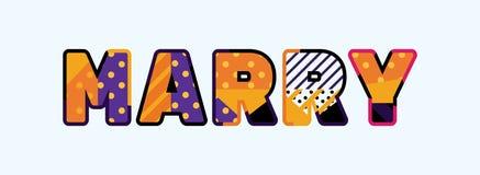 Case la palabra Art Illustration del concepto stock de ilustración