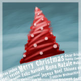 Case la tarjeta de felicitaciones de la Navidad Imágenes de archivo libres de regalías