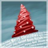 Case la tarjeta de felicitaciones de la Navidad libre illustration