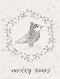 Case la tarjeta de Navidad libre illustration