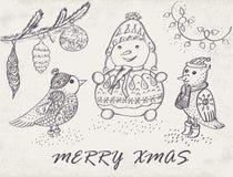 Case la tarjeta de Navidad ilustración del vector