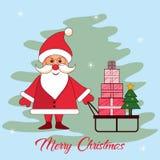 Case la tarjeta del invierno de la Navidad Fotografía de archivo