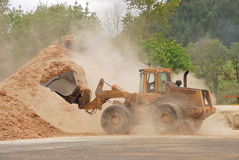 Wood Chipping Royalty Free Stock Photography
