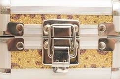 Case lock close up. Metal case lock close up Stock Images