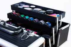 Case with makeup tools Stock Images
