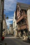 Case medievali nella vecchia città Chinon france Fotografia Stock