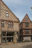 Case medievali nella vecchia città Chinon france Fotografie Stock Libere da Diritti