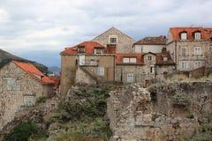 Case mediterranee sceniche Fotografia Stock Libera da Diritti