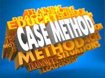 Case Method on Yellow WordCloud. Royalty Free Stock Photography