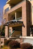 Case moderne della città del condominio del Brownstone Fotografia Stock Libera da Diritti