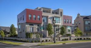 Case moderne variopinte nell'alba Utah Immagine Stock Libera da Diritti