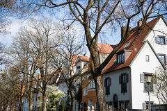 Case a Monaco di Baviera, singole case della famiglia in Germania Fotografie Stock
