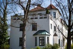 Case a Monaco di Baviera, singole case della famiglia in Germania Immagini Stock Libere da Diritti