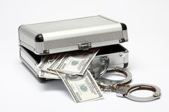 Case with money Stock Photography