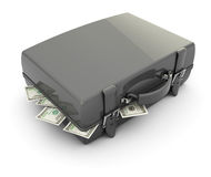 Case with money Stock Images