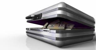 Case with money Stock Photo