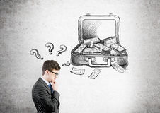 Case with money Royalty Free Stock Images