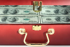 Case with money closeup Stock Photography