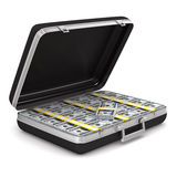 Case with money on white background Royalty Free Stock Images