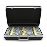 Case with money on white background Royalty Free Stock Photography