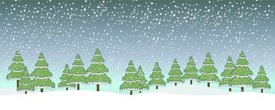 Case o céu azul da neve do Natal ilustração do vetor