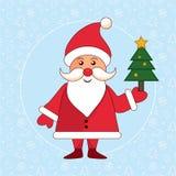 Case o cartão do inverno do Natal Imagens de Stock