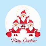 Case o cartão do inverno do Natal ilustração stock