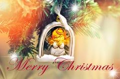 Case o projeto para seu cartão de cumprimentos, insetos do fundo do Natal, convite, cartazes, folheto, bandeiras, calendário Foto de Stock Royalty Free