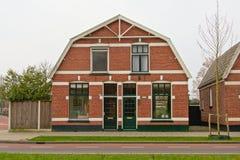 Case olandesi suburbane tipiche della pietra del mattone Fotografie Stock Libere da Diritti