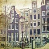 Case olandesi tradizionali del canale royalty illustrazione gratis