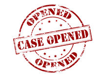 Case opened Stock Images