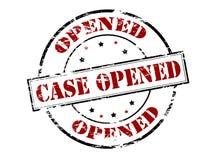 Case opened Royalty Free Stock Photo